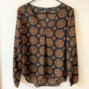 Loose black and gold blouse *never been worn*